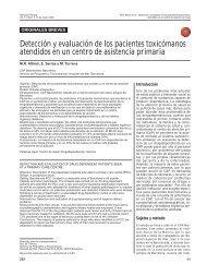 Detección y evaluación de los pacientes toxicómanos ... - sepeap