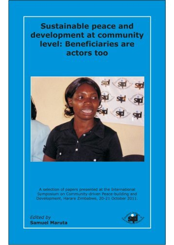 Beneficiaries are actors too.pdf - Southern Institute of Peace ...