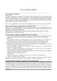 Servizio trasporto sanitario - Azienda Ulss 12 veneziana