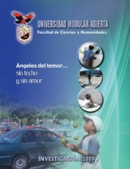 Ciencias y Humanidades - Universidad Modular Abierta