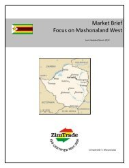 Market Brief Focus on Mashonaland West - ZimTrade