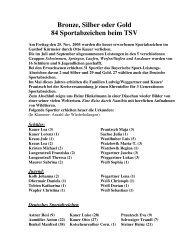Bronze, Silber oder Gold 84 Sportabzeichen ... - TSV Brannenburg