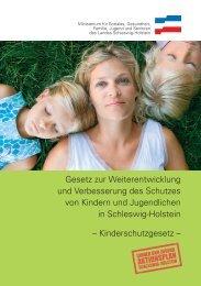 Kinderschutzgesetz Schleswig-Holstein