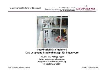 Ingenieurausbildung in Lüneburg - Leuphana Universität Lüneburg