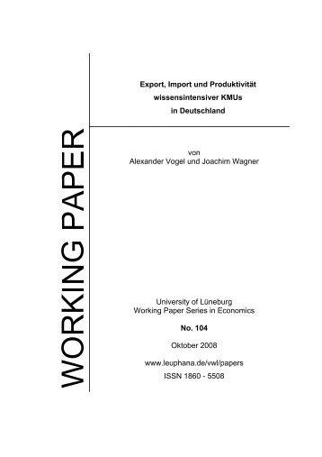 Export, Import und Produktivität wissensintensiver KMUs in ...