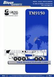Grove TM9150 Crane Chart