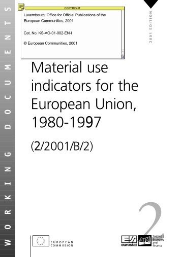 Material use indicators for the European Union ... - Eurostat - Europa