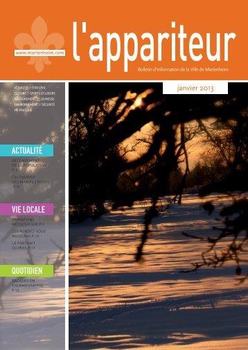 Apparteur Janvier 2013 - Communauté de Communes la porte du ...