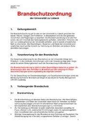 mit englischem Alarmplan - Universität zu Lübeck