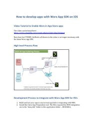 How to develop apps with Worx App SDK on iOS