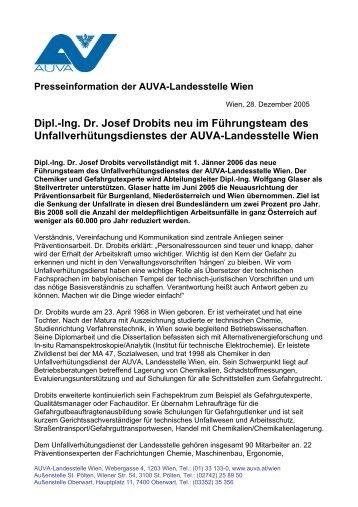 Presseinformation: Dipl.-Ing. Dr. Josef Drobits neu im F