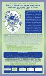 9th INTERNATIONAL HERB SYMPOSIUM