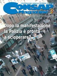 Dopo la manifestazione la Polizia è pronta a ... - Consap Roma