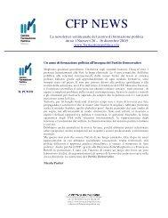 Newsletter 26 - Centro di Formazione Politica