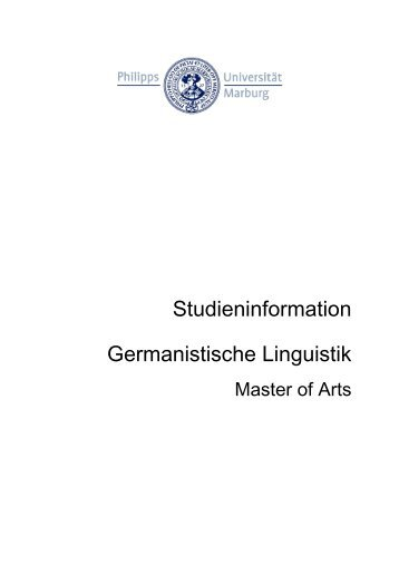 Germanistische Linguistik - Philipps-Universität Marburg