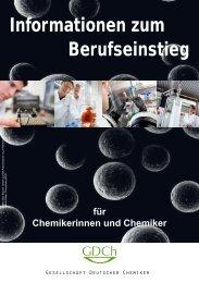 Broschüre Berufseinstieg Chemiker - Philipps-Universität Marburg