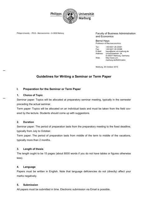 Briefvorlage Fb 02 Englisch Uni Marburg