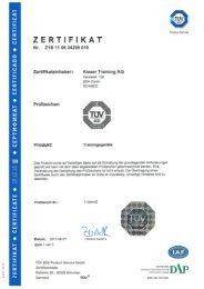 ZERTIFIKAT - Unio GmbH