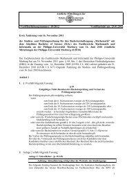 """und Prüfungsordnung für den Bachelorstudiengang """"Mathematik"""""""