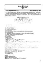 Der Fachbereichsrat des Fachbereichs Geschichte ... - uni-marburg