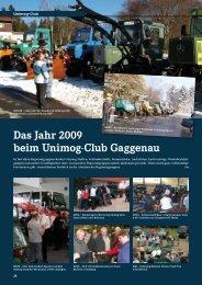 Das Jahr 2009 beim Unimog-Club Gaggenau