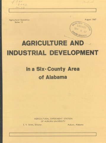 agriculture and industrial development - Auburn University