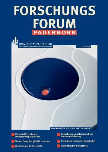 12/2009 (PDF, 5,1 MB) - Universität Paderborn