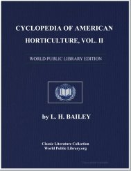 cyclopedia of american horticulture, vol. ii - World eBook Library