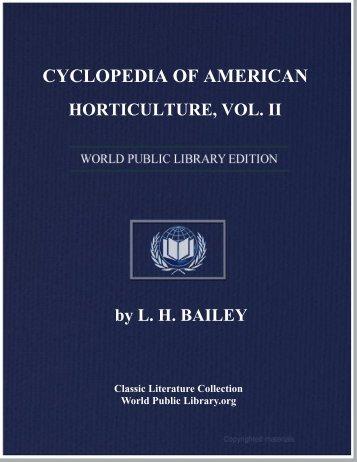 cyclopedia of american horticulture, vol. ii - World eBook Library