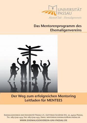 Das Mentorenprogramm des Ehemaligenvereins Der Weg zum ...