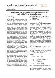 Berechnung des Wärmedurchgangskoeffizienten U nach zukünftig ...