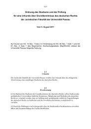 Ordnung des Studiums und der Prüfung für eine Urkunde über ...