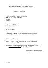 Mustereinstufungstest Universität Passau Sprache: Englisch