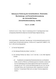Immatrikulationssatzung - ImmSa - Universität Passau