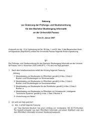 Satzung zur Änderung der Prüfungs - Universität Passau