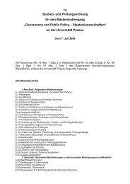 Governance and Public Policy – Staatswissenschaften - Universität ...