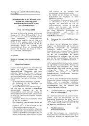 Regeln guter wissenschaftlicher Praxis - Universität Potsdam