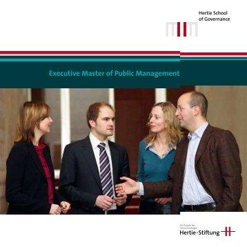 Executive Master of Public Management - Universität Potsdam