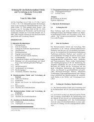 Ordnung für das Bachelorstudium Politik und Verwaltung an der ...
