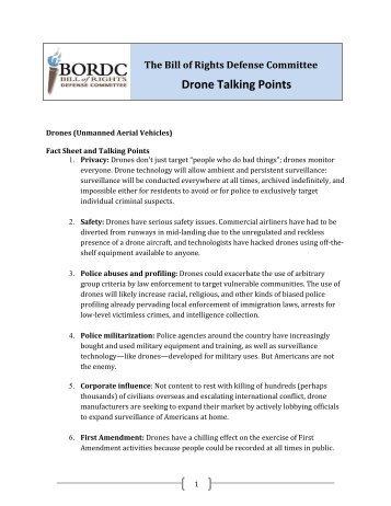 Drone Talking Points