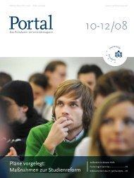 Portal 10-12/08 - Universität Potsdam