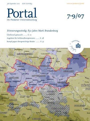 Portal 7-9/07 - Universität Potsdam