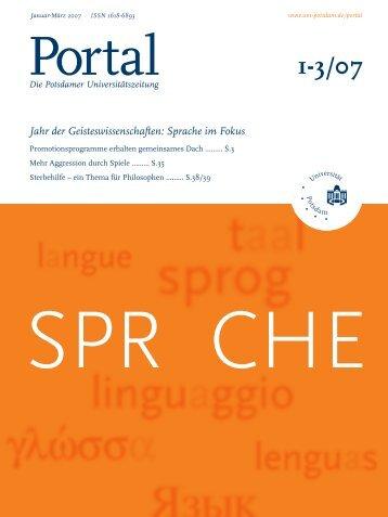 Portal 1-3/07 - Universität Potsdam