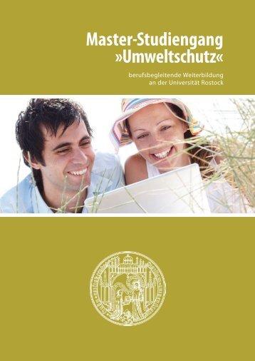Master-Studiengang »Umweltschutz« - Universität Rostock
