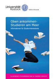 Oben ankommen- Studieren am Meer - Universität Rostock