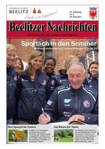Beelitzer Nachrichten - Mai 2013
