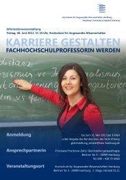 Karriere gestalten - Fachhochschulprofessorin werden