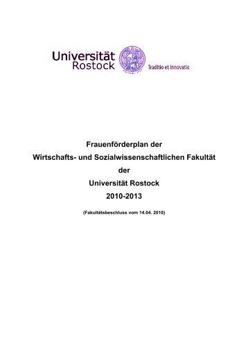 Frauenförderplan der WSF - Universität Rostock