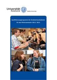 Qualifizierungsprogramm der Graduiertenakademie für das ...