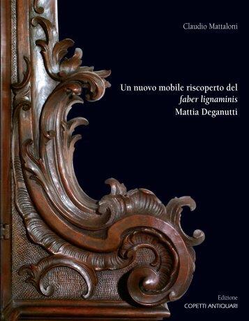 Un nuovo mobile riscoperto del faber lignaminis ... - Copetti Antiquari
